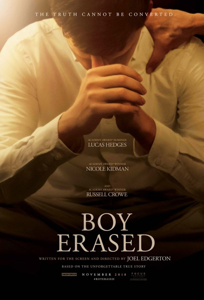 Lucas Hedges in the Boy Erased poster